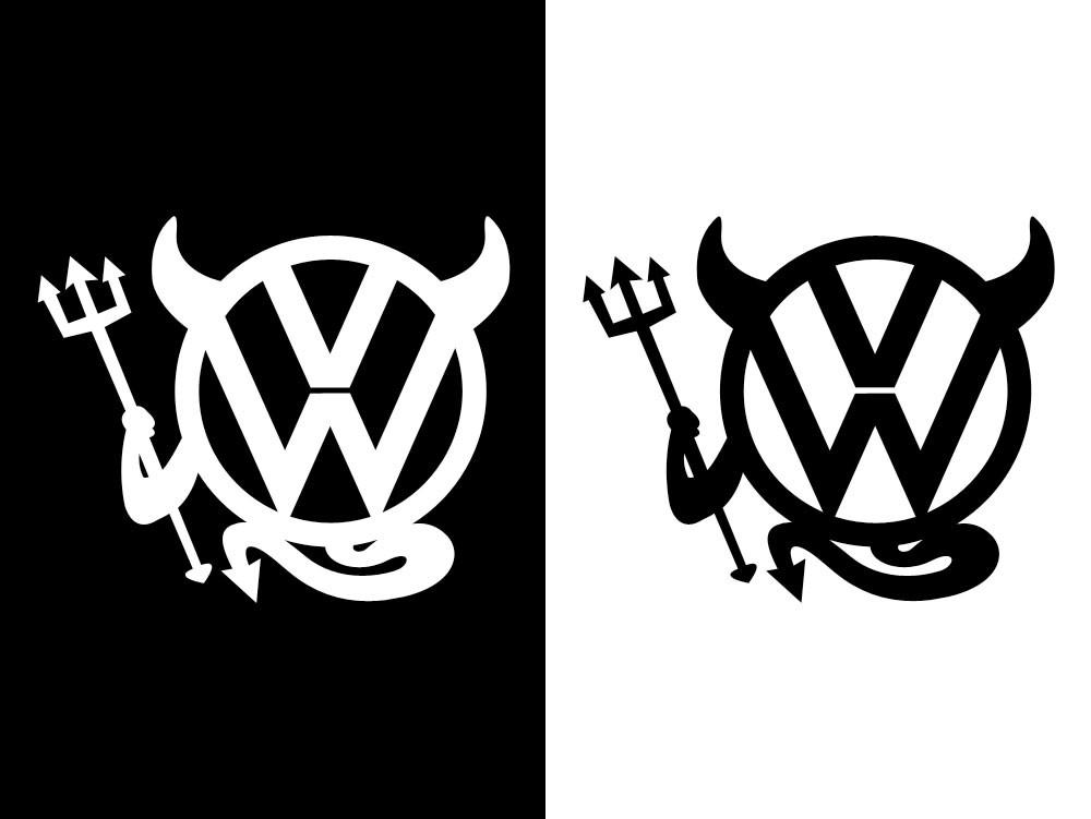 フォルクスワーゲン ロゴ デビルステッカー
