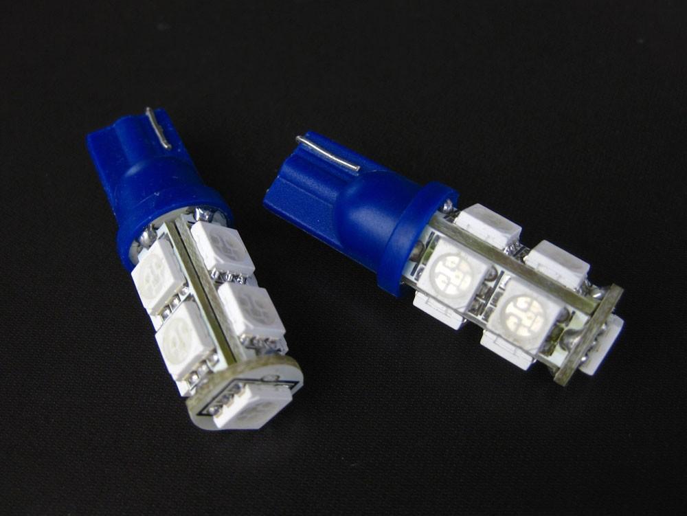 T10 / T16 LED ウェッジバルブ 9連 ブルー