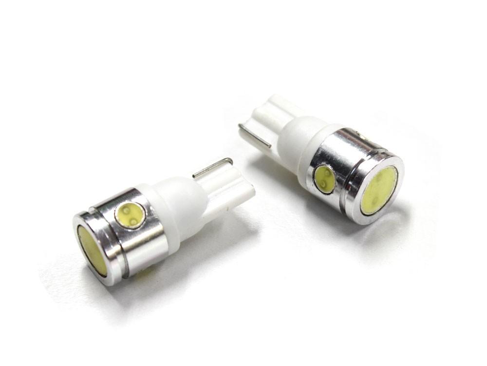 T10 / T16 フラットフェイス LED ウェッジバルブ ホワイト