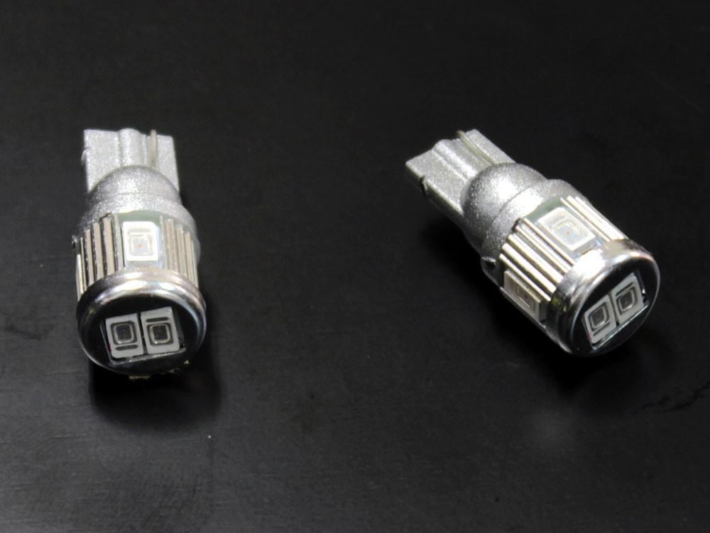 T10 / T16  ステルス LEDバルブ 6チップ アンバー