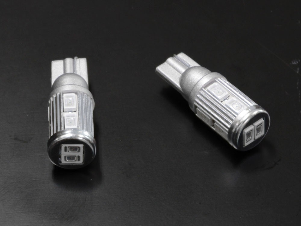 T10 / T16  ステルス LEDバルブ 10チップ レッド
