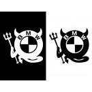 BMW ロゴ デビルステッカー