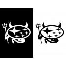 スバル ロゴ デビルステッカー
