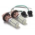 T20 シングル ピンチ部違い対応 マルチカラー LEDバルブ ホワイト / アンバー