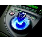 プリウス 30系 シフトノブ / シフトレバー LED リング ブルー
